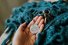 Kľúčenky - Prívesok na kľúče s vlastným textom - 10939707_