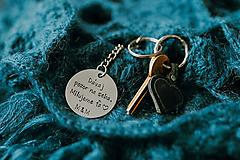 Kľúčenky - Prívesok na kľúče s vlastným textom - 10939711_