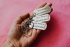 Kľúčenky - Prívesok na kľúče s vlastným textom - 10939721_