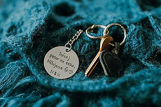 Drobnosti - Prívesok na kľúče s vlastným textom - 10939711_