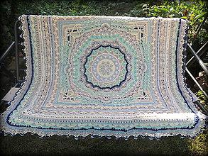 Úžitkový textil - Deka č. 2 s merino vlnou - 10941008_