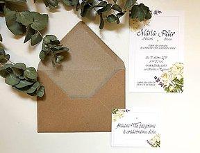 Papiernictvo - Svadobné oznámenia ROSE - 10939656_