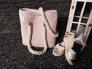 Nákupné tašky - Ružová taška - 10939327_