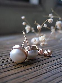 Náušnice - Perličky v zlate - 10939355_