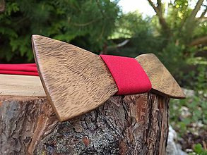 Doplnky - Pánsky drevený motýlik a traky - 10939598_