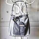 Veľké tašky - Casual leather bag No.4 - 10940199_