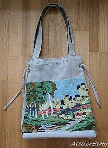 Veľké tašky - Gobelínová taška - 10941377_