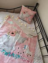 Textil - Setik vankúšik a deka s hladkou minky - 10939387_