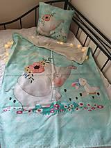 Textil - Setik vankúšik a deka s hladkou minky - 10939394_
