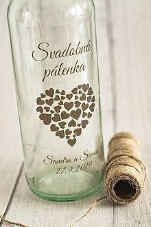 "Papiernictvo - Transparentná etiketa ""Pálenka"" ❤ - 10940745_"