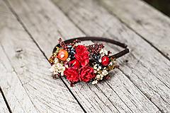 """Ozdoby do vlasov - Kvetinová čelenka """"jesenná vášnivosť"""" - 10939984_"""