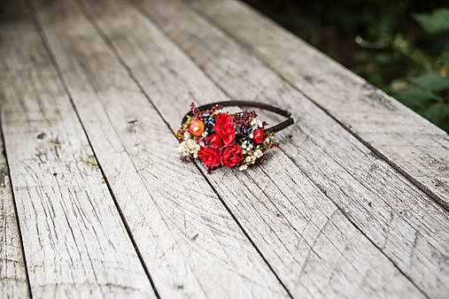 """Kvetinová čelenka """"jesenná vášnivosť"""""""
