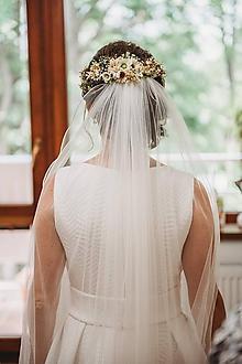"""Ozdoby do vlasov - Kvetinový venček """"svadobné ráno"""" - 10939428_"""