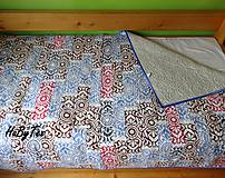 Úžitkový textil - Flanel deka farebná - 10939832_