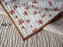 Úžitkový textil - Prikrývka vločky - 10939959_