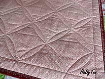 Úžitkový textil - Ružovo-zelena prikrývka - 10940021_