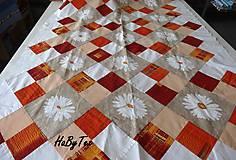 Úžitkový textil - Kvety a kocky - 10940284_