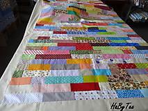 Úžitkový textil - Patchwork farebné pruhy - 10940422_