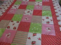 Úžitkový textil - Patchwork kocky - 10940470_