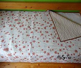 Úžitkový textil - Prikrývka vločky - 10939956_
