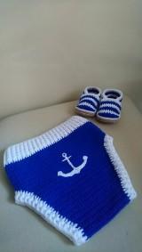 Detské oblečenie - Háčkované baby gaťky - 10938859_
