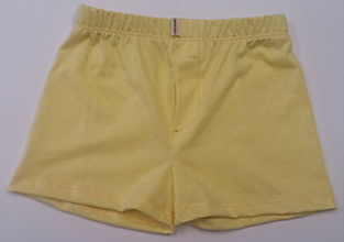 Detské oblečenie - Žlťásky chlapčenské trenky z biobavlny - 10939386_