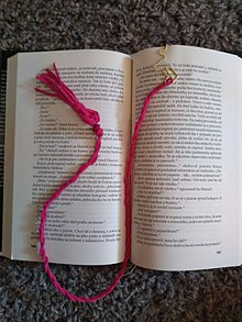 Drobnosti - Ružová záložka do knihy - 10940141_