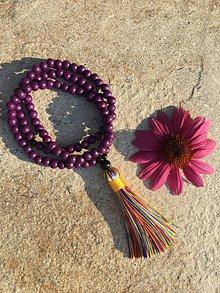 Náhrdelníky - fialový mala náhrdelník - 10941104_