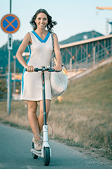 Šaty - Bavlnené šaty s krajkou - natur - 10940769_