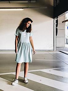 Šaty - Šaty volánový strih M03-el-IO18 M - 10941363_