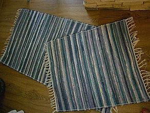 Úžitkový textil - tkany koberec modro -tyrkysovy - 10942193_