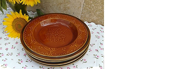 Nádoby - Keramický plytký tanier na stolovanie,pečenie - 10943039_