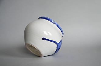 Dekorácie - Váza s kobaltovou glazúrou - 10943526_