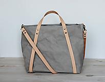 Veľké tašky - Kabelka - taška na kočík (slim) (Šedá) - 10943658_