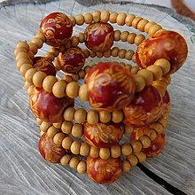 Náramky - retro náramok drevo - 10943674_