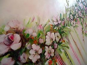 Obrazy - Kvety v dúhe II - 10941570_