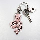 Kľúčenky - Prívesok krevetka lesklá ružová - 10941828_