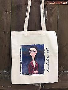 Nákupné tašky - Nákupná taška alá Frida Kahlo - 10941661_