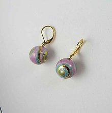 Náušnice - Tana šperky - keramika/zlato - 10941647_