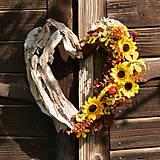 Dekorácie - Drevené spomienkové srdce - 10942477_