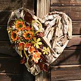 Dekorácie - Drevené spomienkové srdce - 10942554_