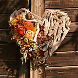 Dekorácie - Drevené spomienkové srdce - 10942649_