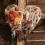 Dekorácie - Drevené spomienkové srdce - 10942650_