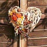 Dekorácie - Drevené spomienkové srdce - 10942651_