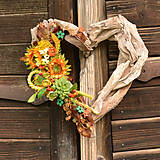 Dekorácie - Drevené spomienkové srdce - 10942678_