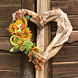 Dekorácie - Drevené spomienkové srdce - 10942679_