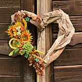 Dekorácie - Drevené spomienkové srdce - 10942683_