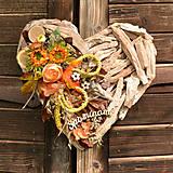 Dekorácie - Drevené spomienkové srdce - 10942838_