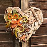 Dekorácie - Drevené spomienkové srdce - 10942842_