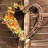 Dekorácie - Oranžové srdce - 10942846_